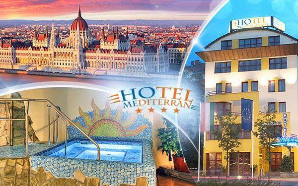 Luxusní pobyt pro 2 osoby na 3 až 5 dní ve 4* Mediterran Hotelu Budapešť + snídaně a neomezená vířivka a sauna!