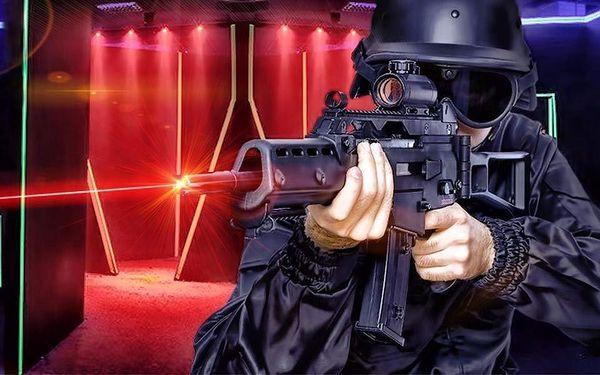 Laserová střílečka ve sci-fi aréně