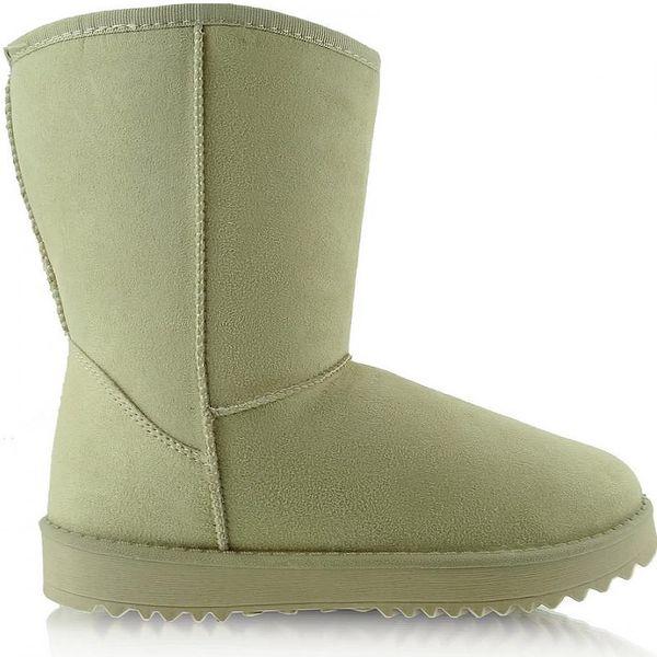 Dámské teplé zimní boty béžové - velikost 41