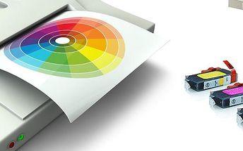 Kompatibilní sada náplní pro tiskárny Canon nebo Epson. Jasné barvy, inkoust a speciální čip !!