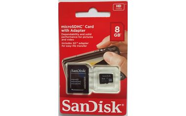 SanDisk SDHC 8GB Class 4 + adapter
