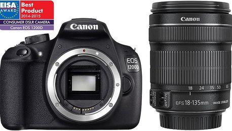 Canon EOS 1200D + EF-S 18-135 IS STM + Dárek v hodnotě 490 KČ