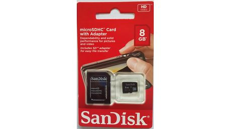 SanDisk SDHC 8GB Class 4 + adapter