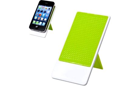 Skládací stojánek na telefon s nanopodložkou - zelený - skladovka