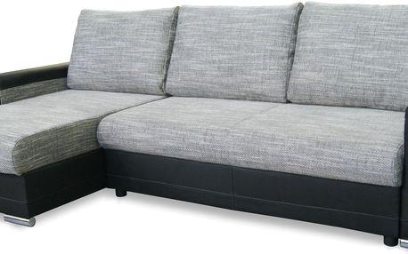 Smartshop Rohová sedačka VEGAS, univerzální roh, šedá - DOPRODEJ + doprava zdarma