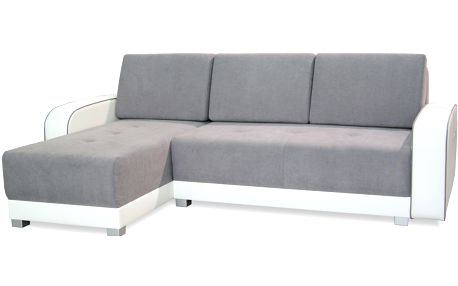 Smartshop Rohová sedačka ROXY, univerzální roh, šedá/bílá - DOPRODEJ