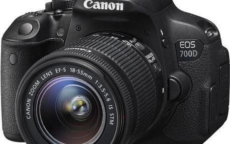 Canon EOS 700D + 18-55 IS STM + 55-250 IS STM + Dárek v hodnotě 490 KČ