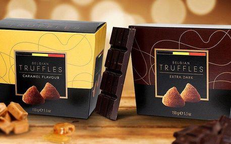 Luxusní balení delikátních belgických pralinek a čokoládových lanýžů