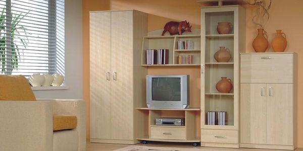 BRW Obývací stěna TIP, javor niva