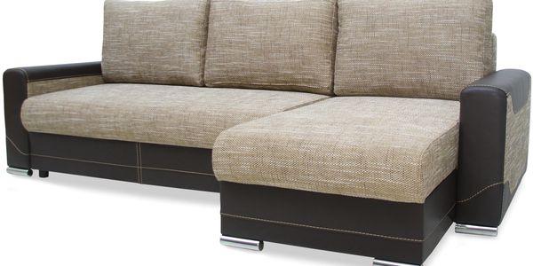 Smartshop Rohová sedačka VEGAS, univerzální roh, hnědá - DOPRODEJ + doprava zdarma