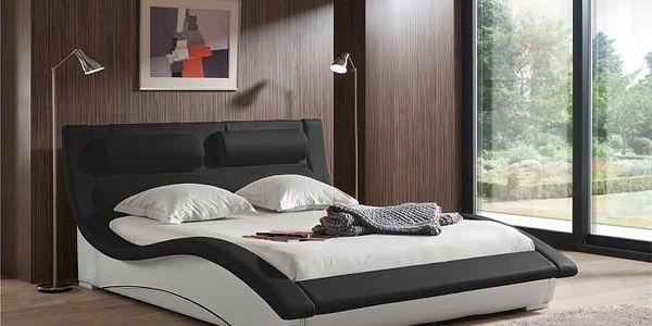 Čalouněná postel BETTY (bicolore black-white, sk. VIII)