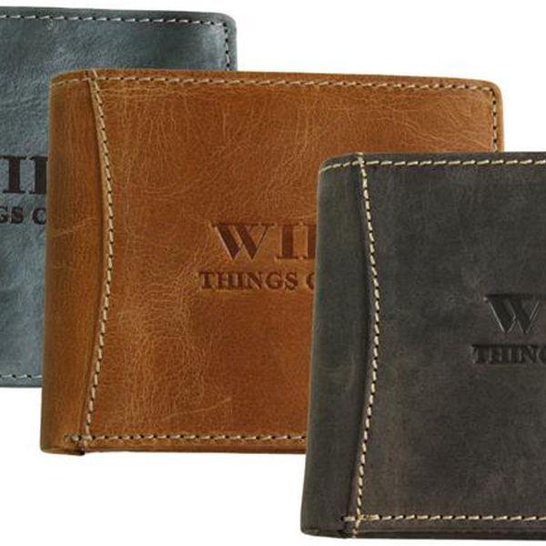 Pánské peněženky WILD - Wild Things Only 5353 z hovězí kůže.