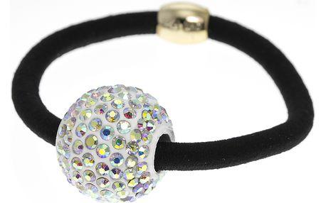 Fashion Icon Gumička do vlasů malá kulička s barevnými krystaly