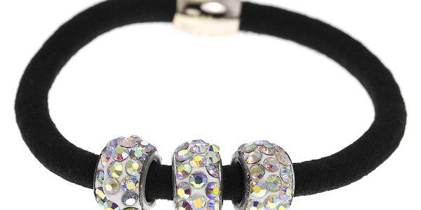 Fashion Icon Gumička do vlasů tři kuličky s krystaly