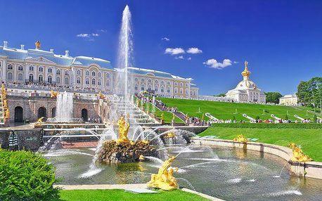 6denní zájezd do Petrohradu pro 1 s prohlídkou města, snídaněmi a ubytováním v hotelu
