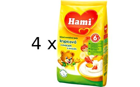 Hami kaše nemléčná krupicová s ovocem 180g - 4-pack