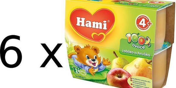 Hami 100% Ovoce jablko, hruška - 6 x (4x100g)