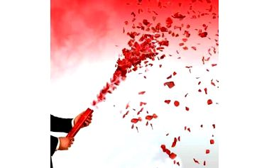 Vystřelovací konfety svatební 40cm - bílá
