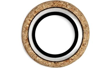 Normann Copengagen Korkové odkapávací kroužky Wine and Bar, sada 2 ks