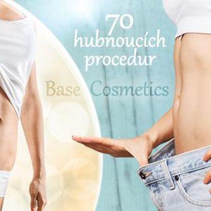 20 nebo 70 hubnoucích procedur ve studiu Base Cosmetics v Praze! Lymfodrenáž, VacuShape, zábal, eliptical a jiné.