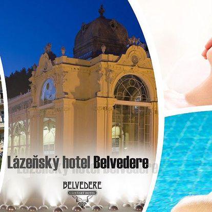 Lázeňský pobyt s antistresovým programem na 3 dny v hotelu Belvedere v centru Mariánských Lázní.