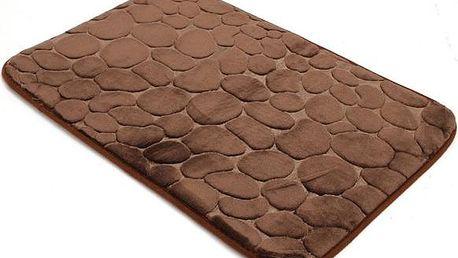 Absorpční kobereček z paměťové pěny - kávová - dodání do 2 dnů