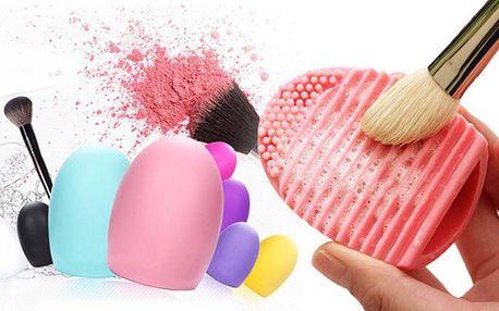 2 ks praktických silikonových čističů na štětce na make-up