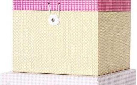 Sada 3 krabiček Grid Colour Box