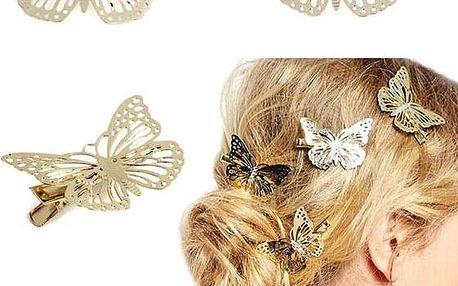 Připínací motýlci do vlasů - skladovka