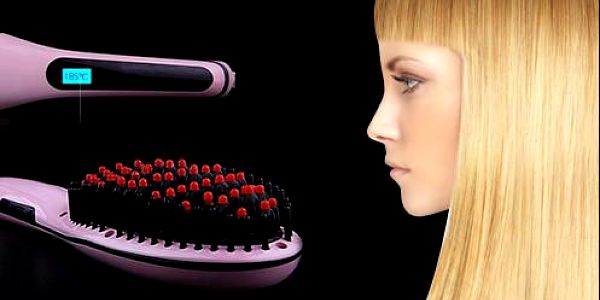 Ionizační kartáč na vlasy s LCD displejem pro žehlení všech typů vlasů