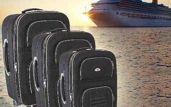 Sada 3 cestovních kufrů na kolečkách
