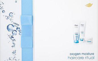 Dárková kazeta Dove Oxygen Moisture šampon + kondicionér + vzdušná maska na vlasy 250 ml + 250 ml + 200 ml