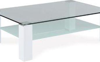 Autronic Konferenční stolek AHG-048 WT, sklo/vys. lesk bílý