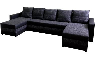 Craft Rohová sedačka FUGAZI, černá/černá ekokůže + doprava zdarma
