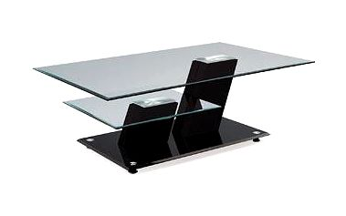 Autronic Konferenční stolek AHG-020 BK,sklo/vys. lesk černý