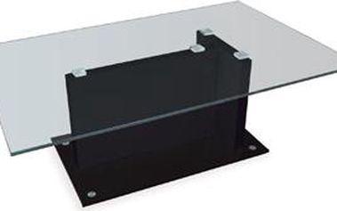 Autronic Konferenční stolek, sklo/vys. lesk černý