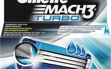 Gillette Mach3 Turbo Náhradní Hlavice KHolicímu Strojku - 2ks