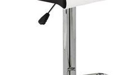 Autronic Barová židle AUB-355 WT, chrom/koženka bílá