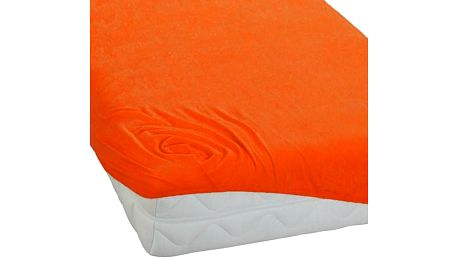BedTex froté prostěradlo oranžová