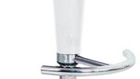 Autronic Barová židle AUB-102 WT, bílý plast/chrom