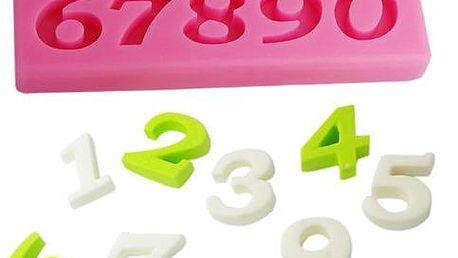 Silikonová formička s čísly - poštovné zdarma