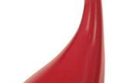 Autronic Odkládací stolek ACT-706 RED, sklo/červený plast