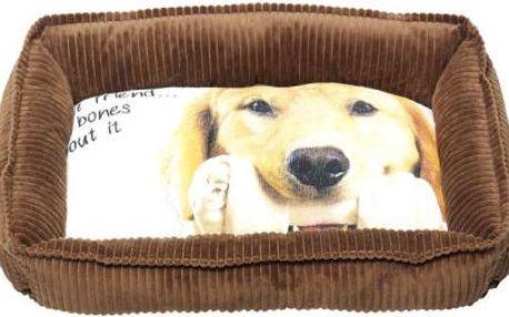 DOG Psí pelech s fotkou, 61x50x15cm, Barva Čokoládová hnědá