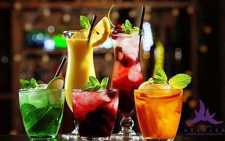 50% sleva na míchané koktejly, víno a další drinky v baru Atelier Club