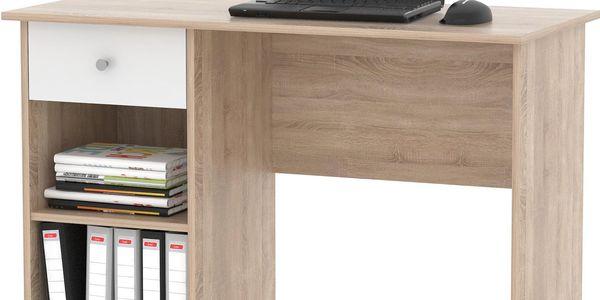 MB Domus PC stůl KURT, dub sonoma/bílá