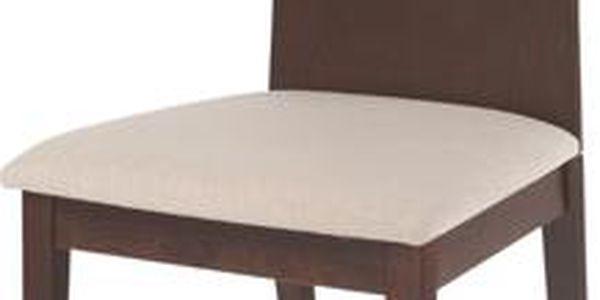 Autronic Jídelní židle BC-3164 WAL se sedákem, ořech