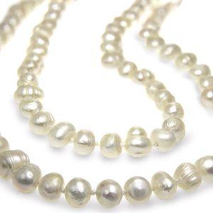 Fashion Icon Náhrdelník pravé perly říční dlouhý MAXI LONG