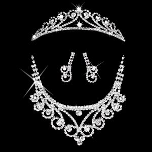 Štrasová sada Princess náhrdelník, náušnice a korunka