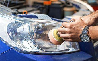 Renovace dvou plastových světlometů v Royal Wash v Brně