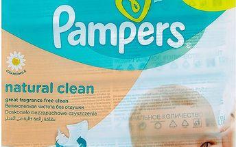 Pampers Vlhčené Ubrousky Naturally Clean 4 x 64 ks
